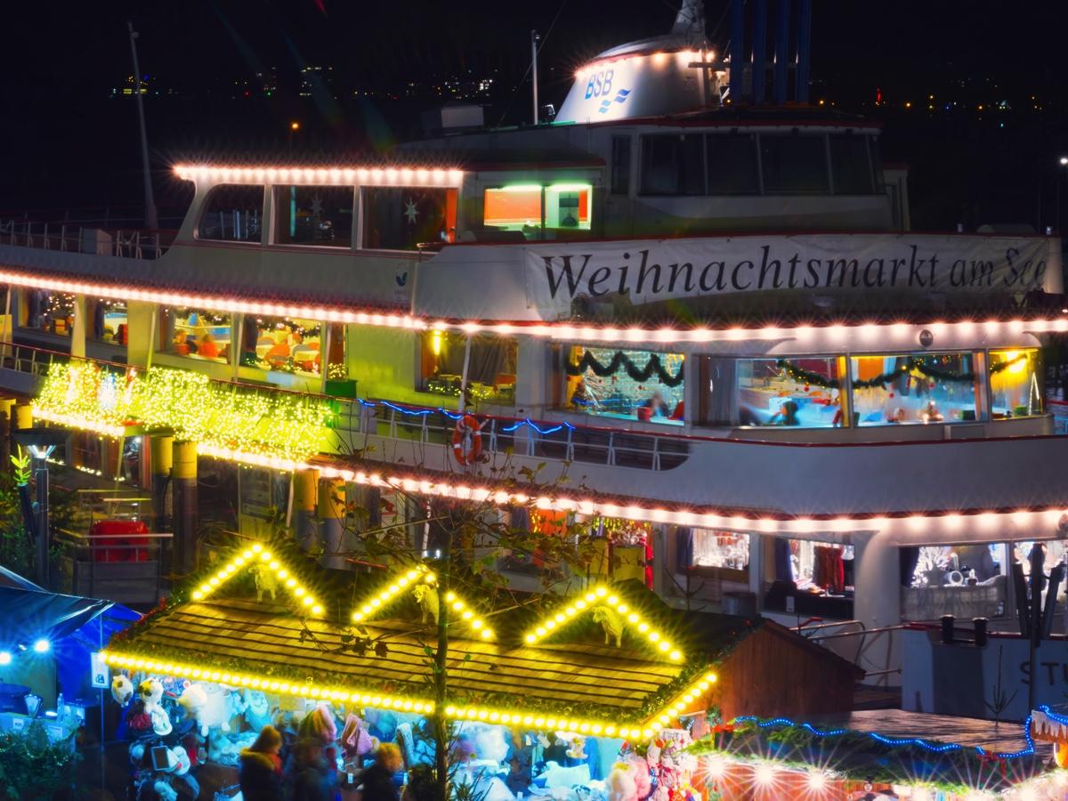 Fotos Der Weihnachtsmarkt Am See In Konstanz Am Bodensee