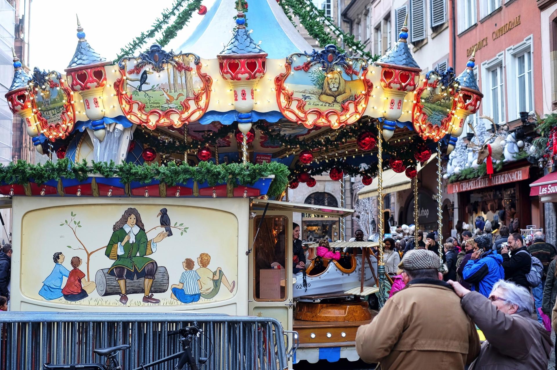 Fotos Vom Weihnachtsmarkt In Strassburg Marche Au Noel