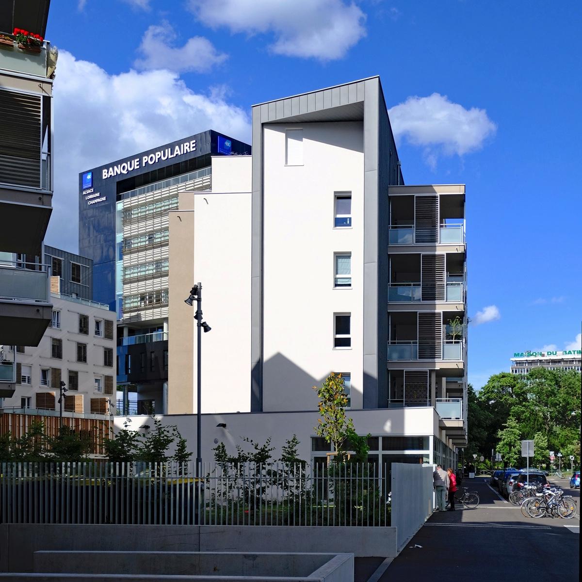 fotos moderne architektur in stra burg poincare rue adele riton. Black Bedroom Furniture Sets. Home Design Ideas